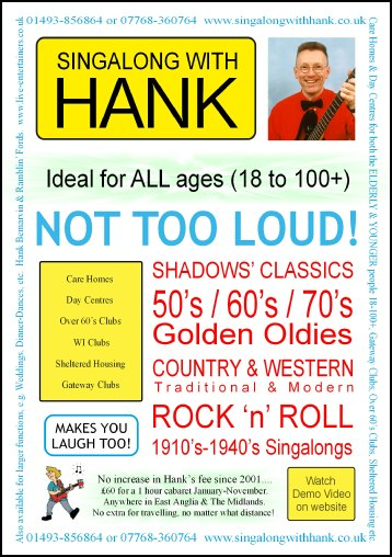 Singalong with Hank flyer (front)